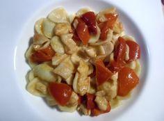 """""""RICETTE  BIMBY - ORECCHIETTE CON POLLO E PEPERONI"""" ricette bimby,ricette con il bimby,orecchiette con pollo e peperoni con il bimby,orecchiette con il bimby,orecchiette,pasta,primo piatto,pasta con peperoni e pollo,peperoni,pollo,orecchiette con pollo e peperoni"""