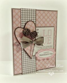 Rose Blossom Legacies: Love valentine card, CTMH Chantilly and Sparkle & Shine with Jan SOTM