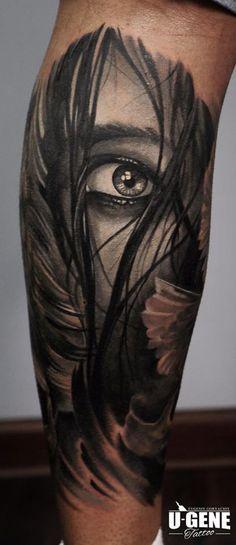 Redberry Tattoo Studio Wrocław #tattoo #inked #ink #studio #wroclaw #warszawa #tatuaz #gdansk #redberry #katowice #berlin #poland #krakow #kraków #sosnowiec #ugene #evgeniy #goryachiy #grey #eye #woman #hair #kobieta #realistic #oko