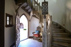 42 The Most Popular Staircase Design - If you're in the process of designing a new home to be built you might want to incorporate a wrought iron staircase in the plans. The staircase made o. Wrought Iron Staircase, Interior Staircase, Spiral Staircase, Staircase Design, Interior Architecture, Staircases, Door Under Stairs, English House, English Style