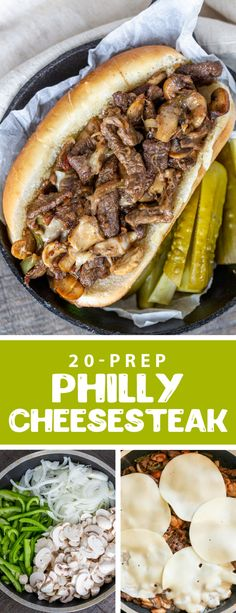 An easy and quick classic Philly Cheesesteak sandwich, this sandwich makes the most delicious lunch or dinner. It is also great for large crowds. This sandwich is filled with tender beef, and mushrooms it is perfect for the summer and super easy to make. #philly #sandwich #phillycheesesteak