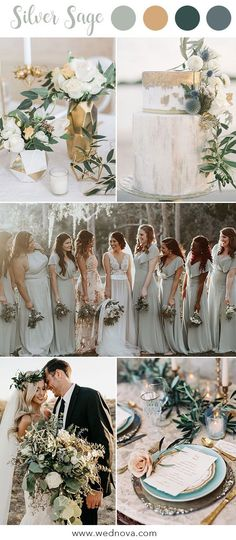 10 Hot Wedding Color Palettes for 2019 Trends Silver Sage Dusty Sage wedding trends 2019 Bridesmaid dresses Wedding Color Palettes Sage Wedding Ideas 2019 Wedding Color Pallet, Rustic Wedding Colors, Spring Wedding Colors, Wedding Color Schemes, Wedding Color Palettes, Wedding Summer, Wedding Colors Green, Popular Wedding Colors, Sage Bridesmaid Dresses