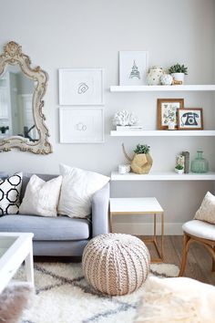 white living room - www.lovelucygirl.com