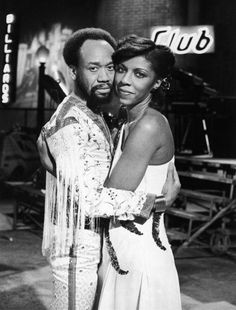Natalie Cole embracing Earth, Wind & Fire's Maurice White in a promotional shot for Ms. Cole's 1978 television special. Photo by Frank Edwards/Fotos International/Getty Images.