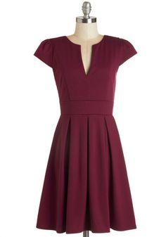Meet Me at the Punch Bowl Dress in Berry   Mod Retro Vintage Dresses   ModCloth.com