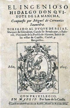 La primera edición de la primera parte del Quijote se publicó en enero de 1605, más de un siglo antes de que existiera la Biblioteca Nacional. Fue impresa por Juan de la Cuesta en su imprenta del número 87 de la Calle Atocha (Madrid), de donde salieron gran parte de los libros de Cervantes y …