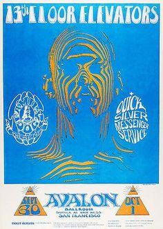 13th Floor Elevators - Quick Silver Messenger Service - 1966 - Avalon Ballroom - Concert Poster