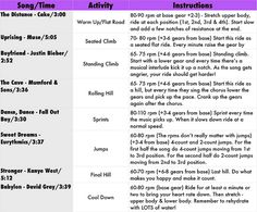 Spin Workout! This girl posts such fun workouts you can do on your own with some great music to go with it!