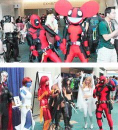 deadpool<<He called.my sister (who was dressed as bill cipher) an evil nacho at comicon.
