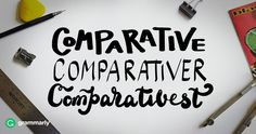 Make Your Comparatives More Correcter Multiple Meaning Words, Basic Grammar, Improve Yourself, Make It Yourself, Grammar School, Book Shelves, Writing Skills, You Tried, Social Studies