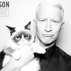 Anderson Cooper and Grumpy Cat.