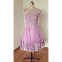 2015 Lilac Purple Lace Tulle Short Prom Dress Homecoming Dress... ($99) ❤ liked on Polyvore featuring dresses, grey, women's clothing, lace dress, short lace dress, grey cocktail dress, graduation dresses and cocktail prom dress