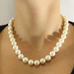 Colar Pérola Shell Branca, para noivas clássicas. #joias #noivas #noiva #casamento #colar #pérolas