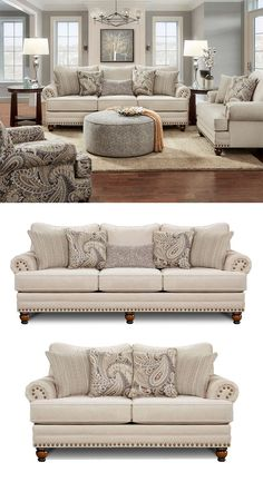 2820 Cary's Doe Traditional Sofa with Nailhead Trim by Fusion Furniture