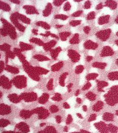 Anti-Pill Fleece Fabric Pink Tonal Cheetah Print