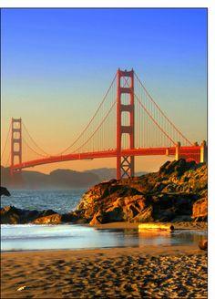 Carte Pont de San Fransisco pour envoyer par La Poste, sur Merci-Facteur !