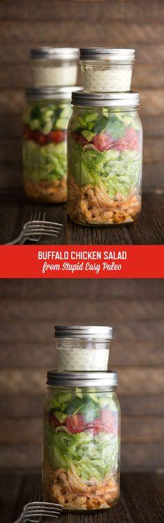 Buffalo Chicken Salad Recipe | StupidEasyPaleo.com