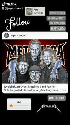 #metallica #rock #metal #heavymetal #jameshetfield #kirk #lars #roberttrujillo #gunsnroses #aerosmith #rollingstones Metallica Band, Robert Trujillo, James Hetfield, Aerosmith, Rolling Stones, Heavy Metal, Cyber, Fan Art, Rock