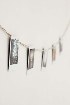 hole punch photos and string chain through