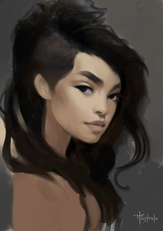 Portrait of my character Ara. This is still a work in progress, part of a full body character sheet. I'm really enjoying working on this character. Painted in Krita.