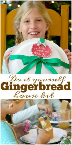 DIY Gingerbread House Kit complete with free printable so you can create some yourself this Christmas. Great activity for holiday parties. ad