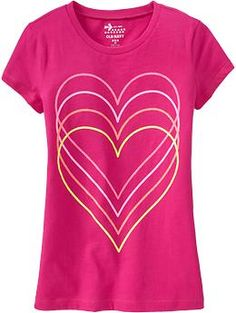 Girls Graphic Tees | Old Navy  hearts, size M