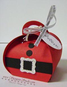 Stampin' Studio, Stampin' Up! Christmas Gift Card Holders, Christmas Gift Box, Handmade Christmas, Craft Box, Craft Sale, Stampin Up, Box Maker, Christmas Craft Fair, Origami Box