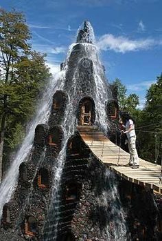 Magic Mountain Hotel, Panguipulli, Chile. I wonder if this is soothing or just really loud?