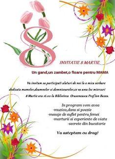 invitatie pentru parinti la serbarea de 8 martie– Google Поиск