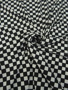 New Arrival! Black/White Checkerboard Print ITY Knit 56W