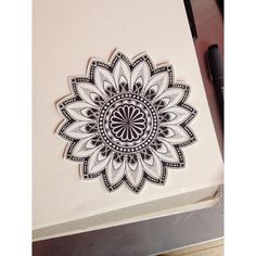 forallthosegracious:  I quite like this one. #mandala with some #dotwork ⚫️⚫️⚫️   ^