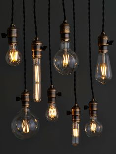 Our Portland factory has manufactured bare bulb light fixtures for over 20 years. We love the warmth of a carbon filament bulb, and its cozy glow harkens back to the dawn of lighting design, when bulbs were exposed to allow maximum diffusion of light. Carbon filament bulbs are beautiful — but