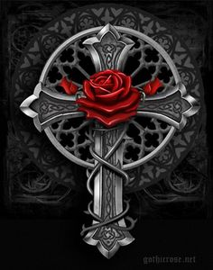 Rose Design, Design Art, Gothic Crosses, Bellisima, Brooch, Bookmarks, Flowers, Beautiful Pictures, Brooches