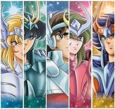 """""""Bronze saints"""" Hyoga,Shiryu,Seiya,Shun and Ikki. l Saint Seiya l"""
