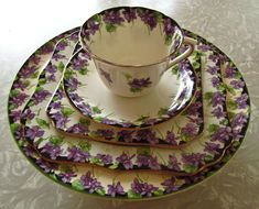 violets everything | This is a Royal Doulton Violets set from the 1920s that used to be ...