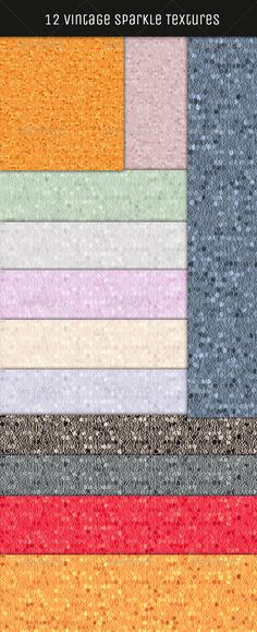 12 Vintage Sparkle Textures HQ by onesmfadesign If you have a need for textures, these are perfect, as theyre colorful and black & white so they can easily be blended and faded i