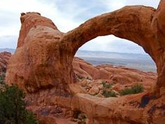 These natural golden arches are among the largest and most iconic of the 2,000 stone arches in Utah's Arches National Park. Take a look at this spectacular sandstone creation.