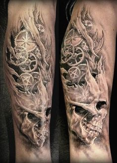 Realism Skull Tattoo by Nicko Metalink | Tattoo No. 3921