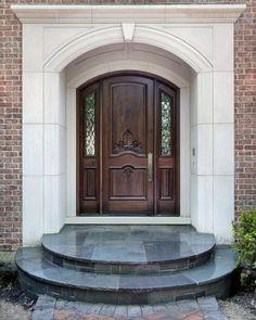 Beautiful simple front door/ exterior entrance.