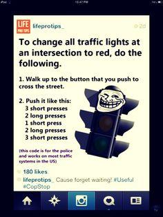 Stoplight Hack #Automobile #Trusper #Tip