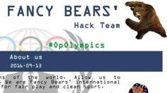 Screenshot - Fancy Bears website