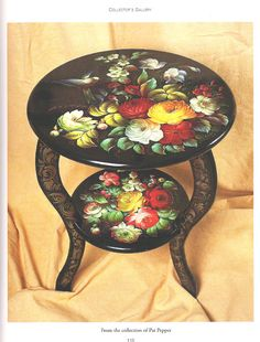 Russian Painting Techniques For Furniture - - Yahoo Image Search Results Russian Painting, Tole Painting, Ceramic Painting, Painting On Wood, Russian Folk Art, Painted Trays, Hand Painted Furniture, Naive Art, Pictures To Paint