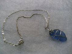 Light Blue rare beach glass necklace by TreasuresFromTheLake  This beauty is sold, but take a look at other lovely pieces in my shop!