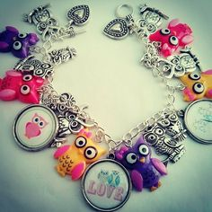 Special gifts online, our handmade and unique gift ideas. One of our signature charm bracelets @ http://www.specialgiftsonline.co.uk/  #owls #birds #charmbracelets #giftideas #handmadegifts #handmadejewellery #jewelry #specialgiftsonline #womensfashion #womensjewelry