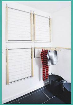 amazing bathroom wall decor ideas inspire your home / design - bathroom decor ., Amazing Bathroom Wall Decor Ideas Inspire Your Home / Design - Bathroom Decor, DecorIdeas Small Bathroom Storage, Laundry Room Organization, Laundry Room Design, Laundry Rooms, Laundry Storage, Laundry Room Drying Rack, Drying Room, Small Laundry, Small Storage