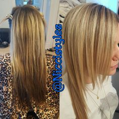 Turned this client blond. I did half head of highlights on top and ombred  the underneath... The final look was amazing. No toning needed thanls to BlondeMe by Schwarzkopf.. :)   #hair #haircut #hairstylist #highlights #longhair #shorthair #colorful #color #ombre #balayage #torontohairstylist #toronto #stylist #tattoo #l4l #fitness #fitmom #work #workout #independent  #invertedbob #sexy #confidence #love #girl #oakville #salon #niccistylez