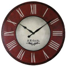 Devonshire 30 inch extra large wall clock $98 plus free shipping! Add personalization for just $10