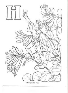 Fairy printable colouring page. Q is for Queen of the