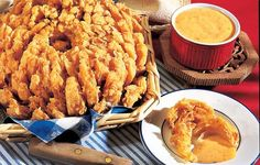 I Love Blooming Onions!!!    Vegetable Oil  1 Lg. Vidalia Onion  3 c. cold water  2 lg. eggs, lightly beaten  1/2 c. beer or club soda  1/2 c. milk  2 c. all-purpose flour  1 t. baking powder  1/2 t. salt  1/2 t. cayenne pepper