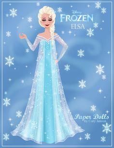 Elsa paper doll Frozen